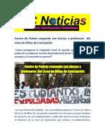 Centro de Padres responde con dureza a profesores  del Liceo de Niñas de Concepción
