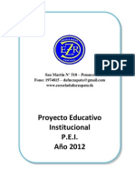 Proyecto Educativo Institucional 17916