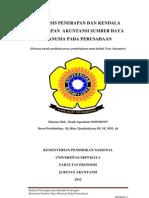 Analisis Penerapan Dan Kendala Penerapan Akuntansi Sumber Daya Manusia Pada Perusahaan