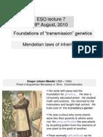 ESO219_lecture 7 Transmission Genetics