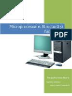 Microprocesoare. Structură şi fucţionare