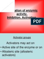 1 Regulation of Enzymic Activity