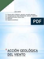 Acción Geologica del viento