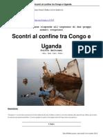 Scontri Al Confine Tra Congo e Uganda 14 11 12