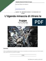 6 L'Uganda Minaccia Di Ritirare Le Truppe