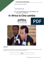 12 in Africa La Cina Cambia Politica 12 11 2012