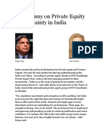 Julie Kenny on Private Equity Uncertainty in India