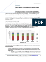 Fiscal Year 2013 Federal Homeland Security Mission Funding Analysis - Soter Group Perspectives - March 2012
