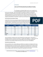 Sequestration and Fiscal Year 2013 Federal Homeland Security Mission Funding Analysis - Soter Group Perspectives - September 2012