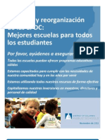 Visión General para la Propuesta del Cierre de Veinte Escuelas Públicas del Distrito