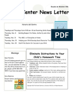 november parent center newletter