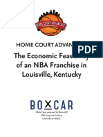 Home court advantage - economic feasibility study