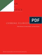 Curbing Filibuster Abuse