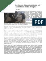 Il debito pubblico italiano al massimo storico nel silenzio generale dei media di regime (14/11/2012)