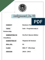 Sole – Proprietorship & Partnership