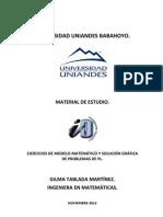 Ejercicios de IO I. Const MM y Soluc Graf