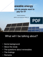 Renewable energy. How much do people want to pay for it?