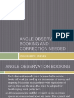 Angle Observation Booking and Correction Needed