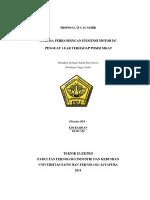 Proposal Skripsi Teknik Elektro Arus Kuat Pdf Pejuang Skripsi