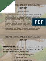 Puente Con Caballete Reticular en Guadua