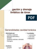 Irrigación y drenaje linfático de tórax
