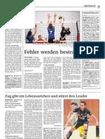 Zeitungsbericht Damen 1 12.November Lugano