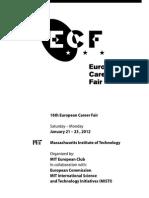 16th European Career Fair 2012 Booklet