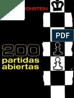 200 Partidas Abiertas - David Bronstein