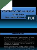 CONTRATACIONES PÚBLICAS 2012