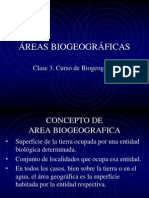 Biogeo - 3. Areas Biogeograficas