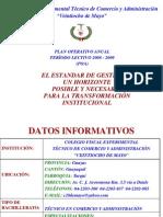 Poa Institucional 2008-2009