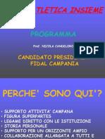 Programma di Nicola Candeloro - Elezioni Fidal 2012