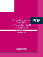 Integrating gender into health curriculum for health professionas