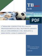L'Indagine Conoscitiva sul Calcio Professionistico dell'AGCM