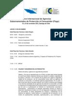 Programa del VI Foro Internacional de Agencias Gubernamentales de Proteccion Al Consumidor, 14 al 16 noviembre 2012, Santiago de Chile