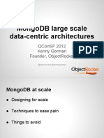 MongoDB Large-scale Data Centric Architectures