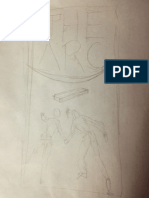 Science Fiction Romance - The Arc e-book Cover Initial sketch
