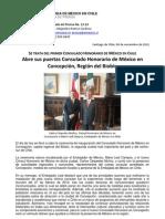 Apertura del Consulado Honorario de México en Concepción