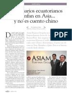 Empresarios ecuatorianos triunfan en Asia... y no es cuento chino