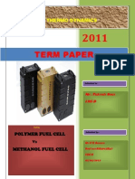 Polymer Fuel Cell vs methanol fuel cell