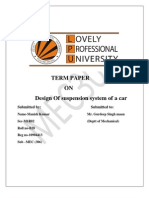 design of suspension system of car