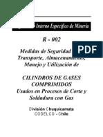 medidas de seguridad en el transporte ,almacenamiento ,manejo y utilización de cilindros de gases comprimidos usados en corte y soldadura a gas
