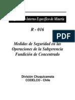 Medidas de Seguridad en Las Operaciones de La Subgerencia Fundicion Concentrado