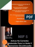 NIIF 5 Activos No Corrientes Mantenidos Para La Venta Y Operaciones Discontinuadas