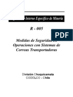 Medidas de Seguridad en Operaciones Con Sistemas de Correas Transportadoras
