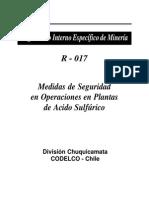 Medidas de Seguridad en Operaciones en Plantas de Acido Sulfurico