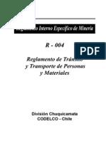 Reglamiento de Transito y Transporte de Personas y Materiales