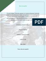 BLOC DE ESPAÑOL - DANIEL CARDOZO