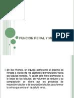 FUNCIÓN RENAL Y MICCIÓN