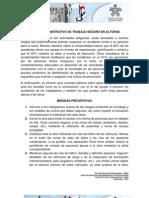 TRABAJO EN ALTURAS Caso Práctico - MEDIDAS PREVENTIVAS